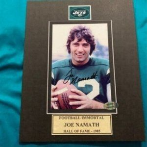 Joe Namath Autographed Photo Matted